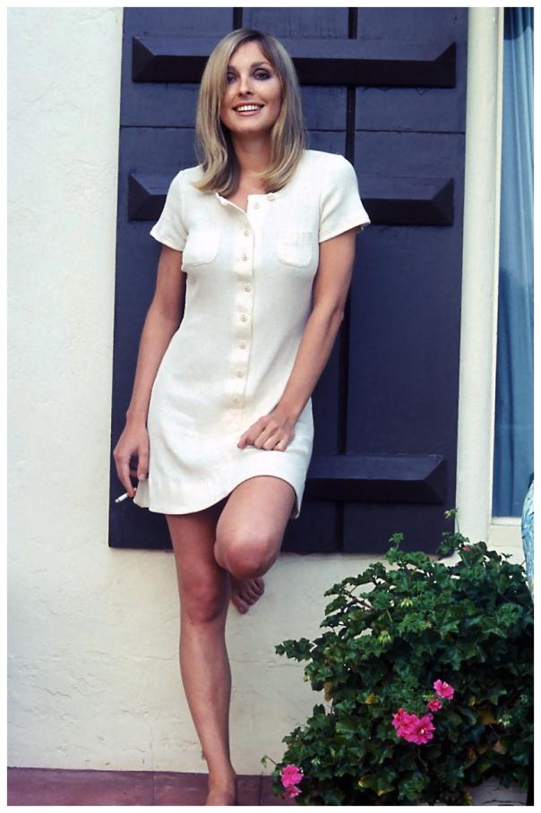 sharon tate white dress