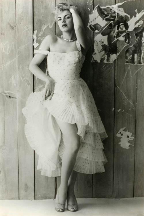 Barbara Nichols (hollyhocks)