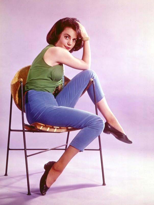 1938 Natalie Wood color portrait chair