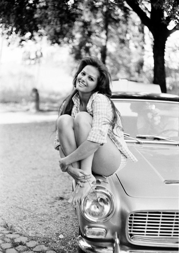 1938 Claudia Cardinale car butt