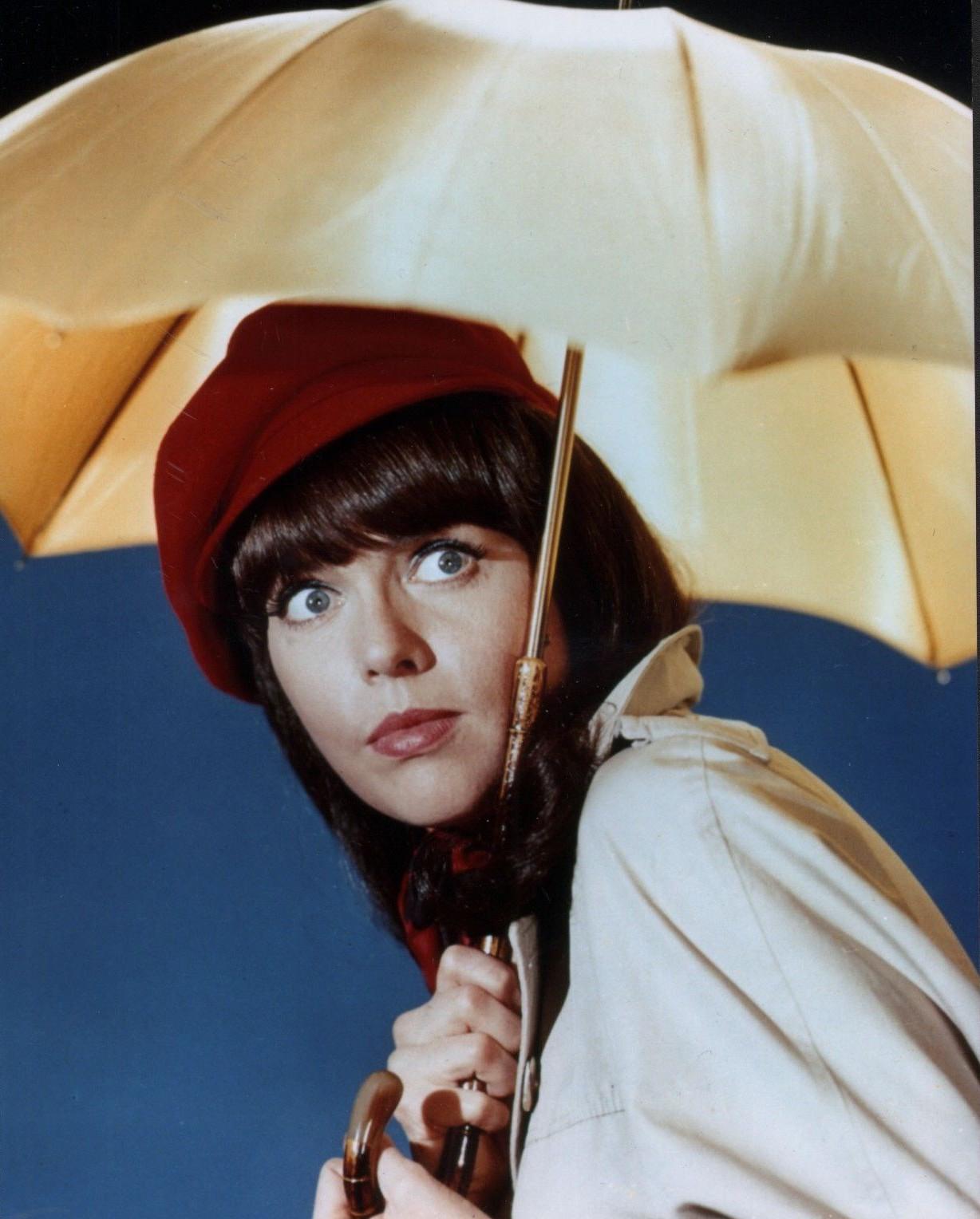 barbara feldon with an umbrella 24 femmes per second