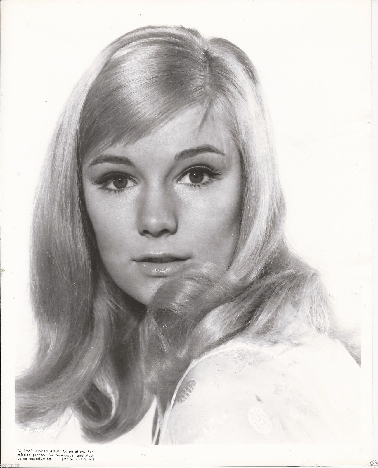 Yvette mimieux born 1942 in a photo for united artists for Milsuite