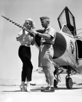 Barbara Lang and 327th Fighter Interceptor Squadron F-102, 1957-5