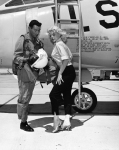 Barbara Lang and 327th Fighter Interceptor Squadron F-102, 1957-6