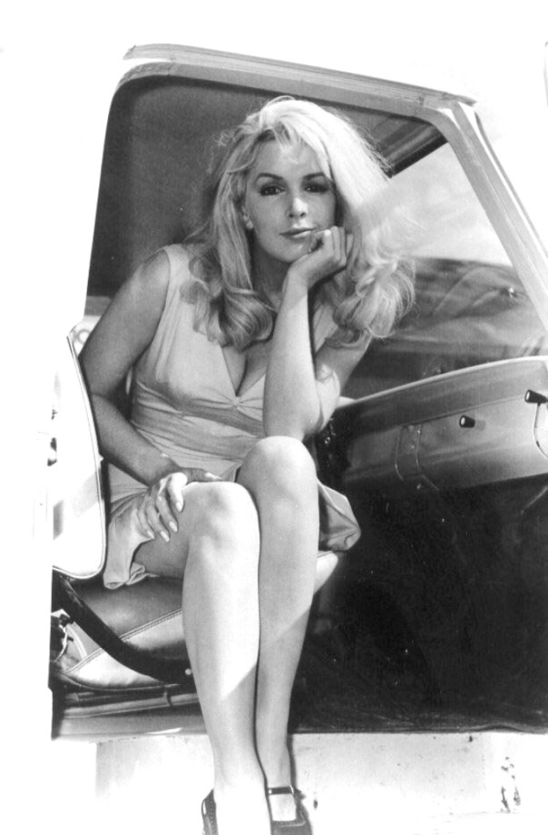 stella stevens car door