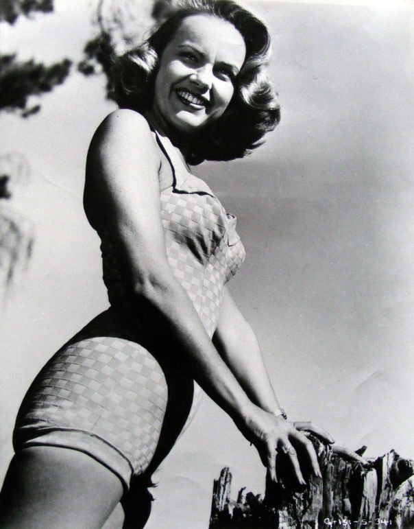 Terry Moore swimsuit bw