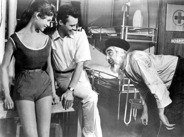 Brigitte Bardot with dirk bogarde (doctor at sea)