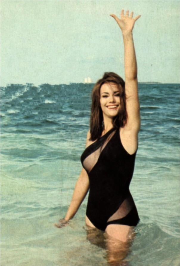 Claudine Auger beachC