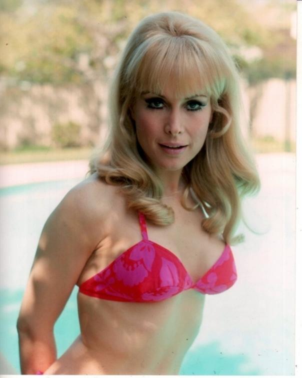 Barbara Eden pink bikini top