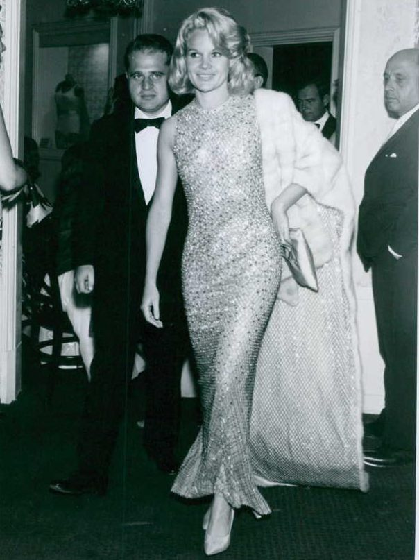 Carroll Baker walking