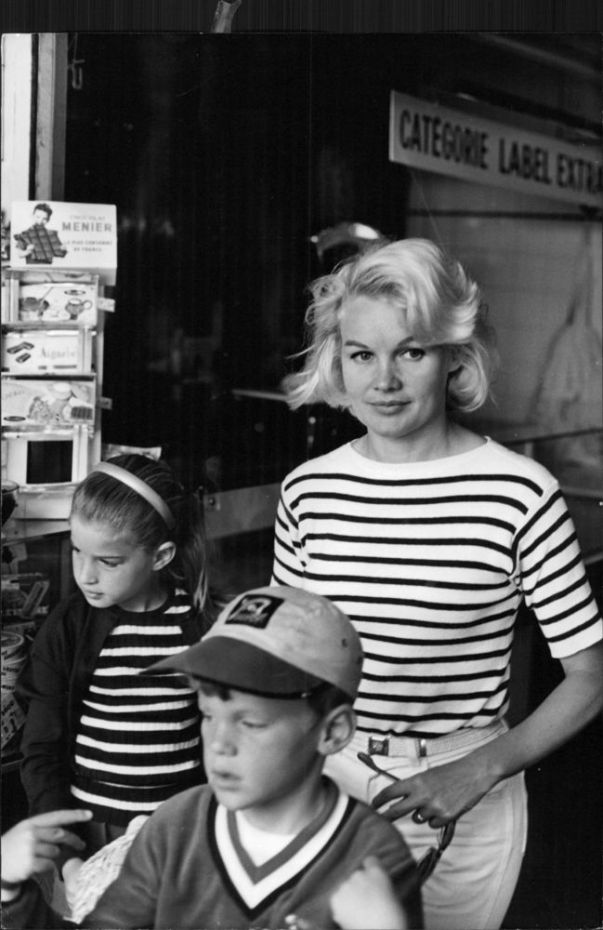 Carroll Baker with her family