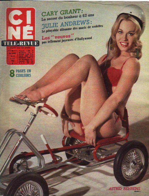 cine revue n°31 1966 astrid behrens lana turner cary grant andress belmondo