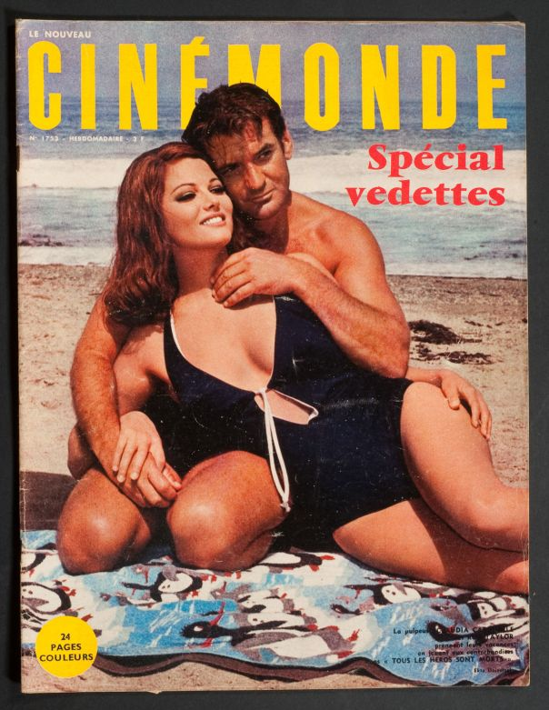 CLAUDIA CARDINALE COVER HOLIDAY ISSUE AUGUST 1968
