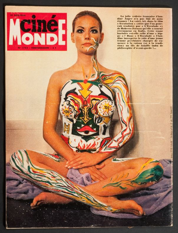 CLAUDINE AUGER COVER HOLIDAY ISSUE AUGUST 1968