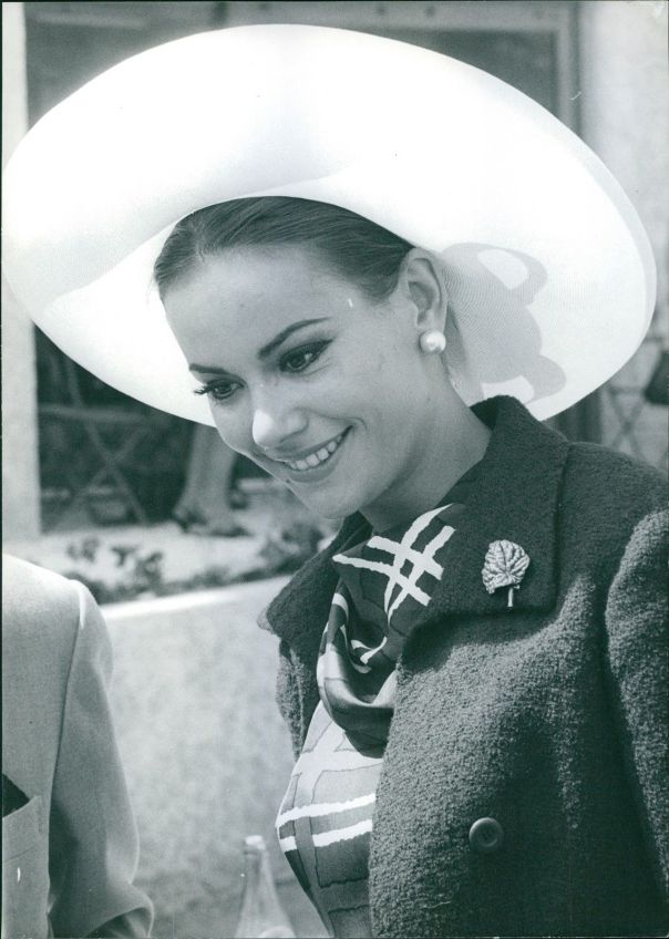 Claudine Auger smiling