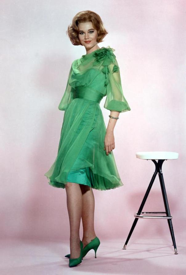 Jane Fonda green dress