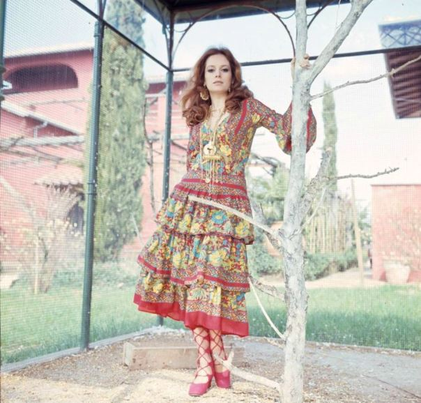 Luciana Paluzzi dress