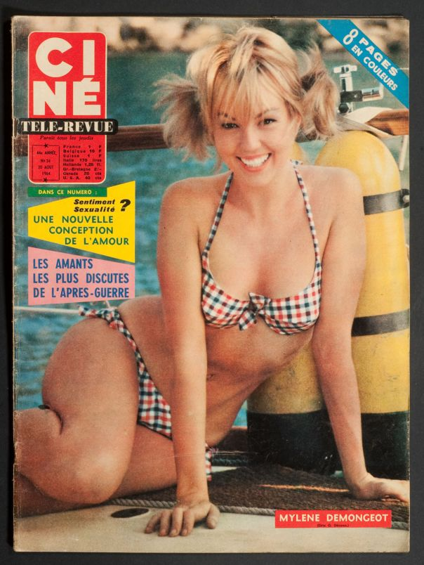 MYLENE DEMONGEOT CINE-REVUE' FRENCH VINTAGE MAGAZINE HOLIDAY ISSUE 20 AUGUST 1964