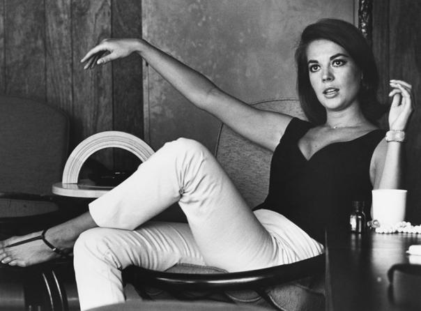Natalie Wood sitting