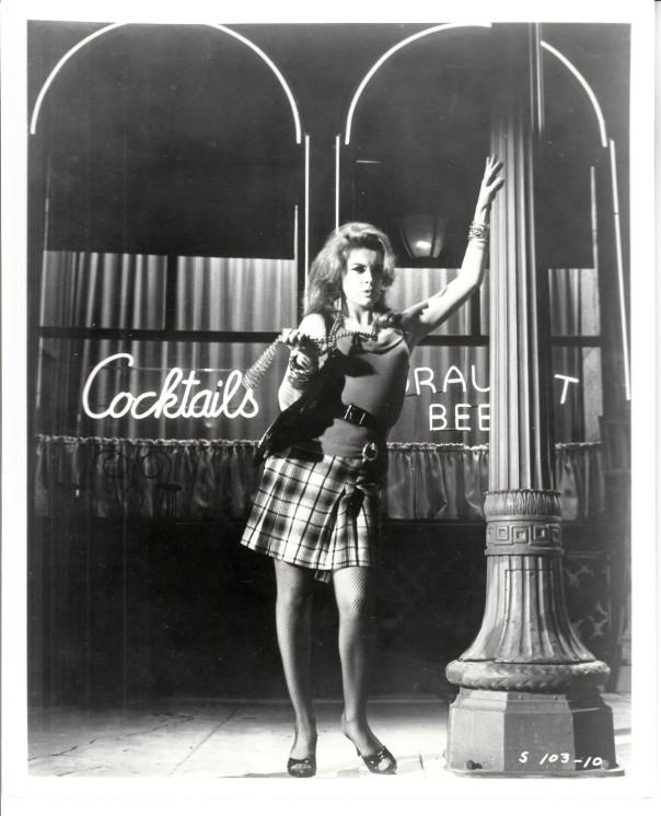 ann-margret bw plaid skirt