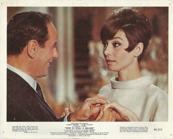 "AUDREY HEPBURN & ELI WALLACH in ""How to Steal a Million"" Original Photo 1966"