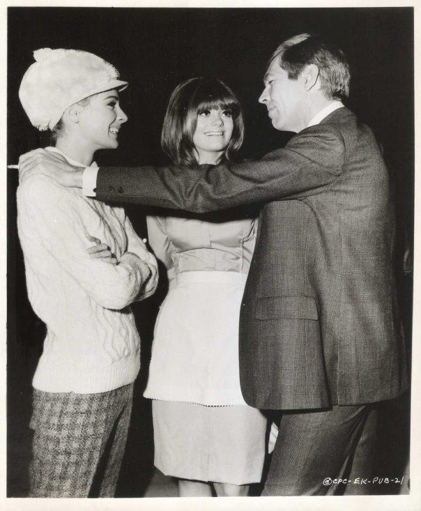 "CAMILLA SPARV, NINA WAYNE & JAMES COBURN in ""Dead Heat on a Merry-Go-Round"" 1966"