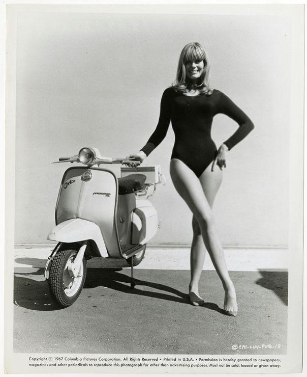 Nina Wayne 1967 Luv Vespa Scooter Promotional Photograph Campy