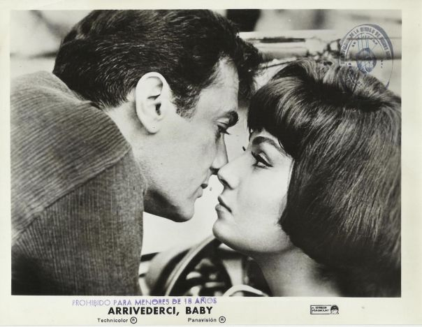 "ROSANNA SCHIAFFINO & TONY CURTIS in ""Arriverci, Baby"" Original Vint. Photo 1966"