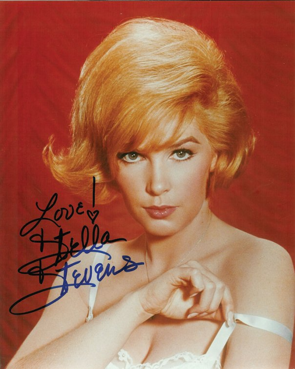 Stella Stevens color autographed in blue
