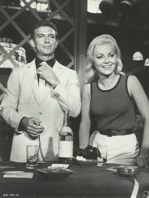 "VIRNA LISI & ANTHONY FRANCIOSA in ""Assault on a Queen"" Original Vintage 1966"