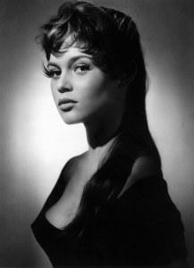 Brigitte Bardot bw brunette portrait