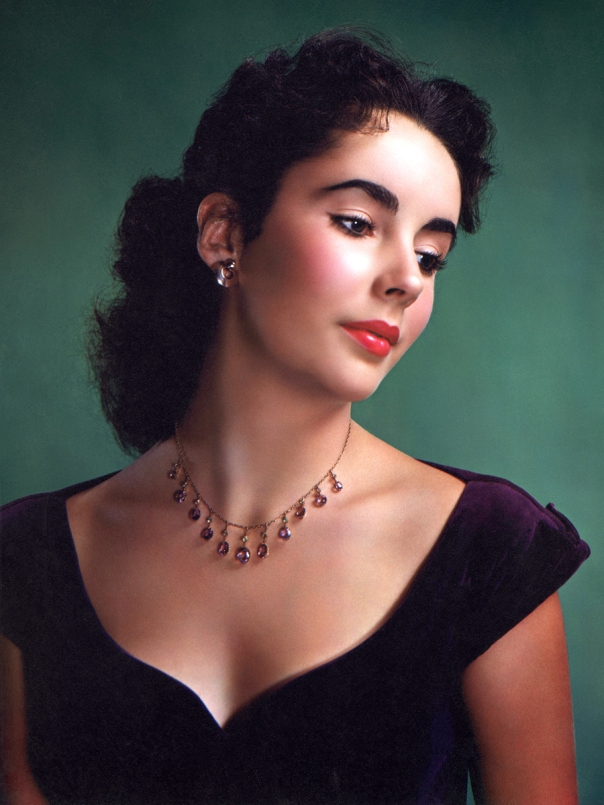 Elizabeth Taylor colored