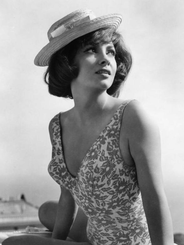Gina Lollobrigida swimsuit hat