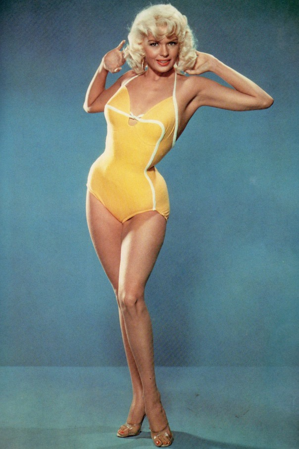 Jayne Mansfield yellow swimsuit