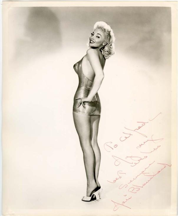 Mari Blanchard  signed