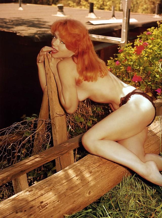 Yvette Vickers color outside