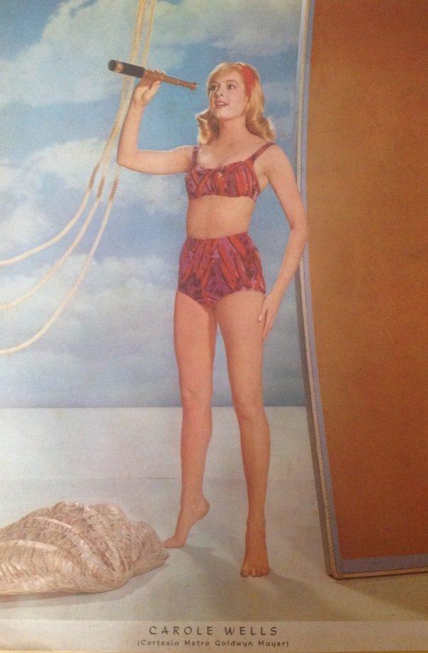 carole-wells-original-mexican-poster-la-prensa-1964-14x10-inches