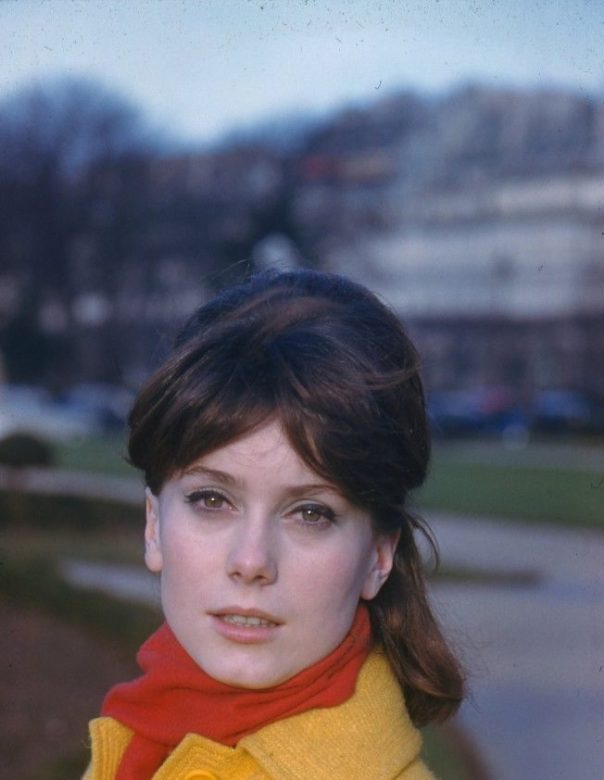 catherine-deneuve-gorgeous-1961-paris-kodachrome-camera-transparency-peter-basch